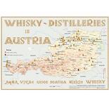 Karte der Destillerien Österreichs auf Postergrösse (60 x 42cm)
