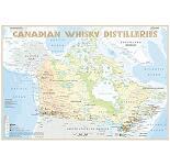 Karte der Destillerien Kanada in Postergröße (42 x 60cm)