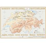 Karte der Destillerien der Schweiz auf Postergrösse (60 x 42cm)