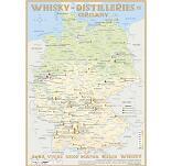 Karte der Destillerien in Deutschland auf Postergrösse (60 x 42cm)
